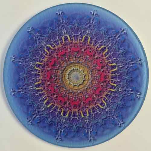 8 Inch Round Glass Trivets